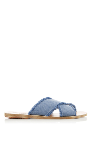 Thais Light Denim Sandals by ANCIENT GREEK SANDALS Now Available on Moda Operandi
