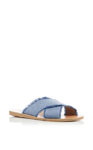 Medium ancient greek sandals blue thais light denim sandals