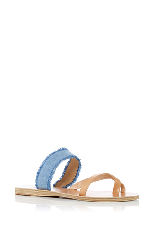 Medium ancient greek sandals blue daphnae gladiator sandals