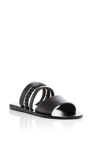 Medium ancient greek sandals black helene gladiator sandals