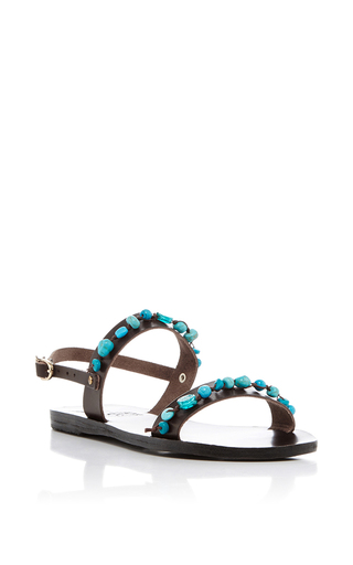 Medium ancient greek sandals brown clio gladiator sandals