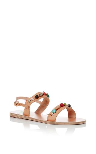 Medium ancient greek sandals tan clio gladiator sandals 3