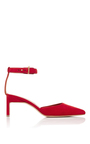 Suede Pointed Mid Heels by ROSETTA GETTY Now Available on Moda Operandi
