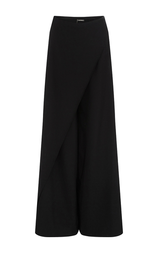 Medium zac posen black tropical wool pants