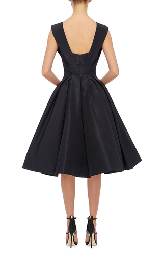 Silk Faille Cocktail Dress by ZAC POSEN Now Available on Moda Operandi