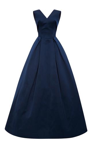 Medium zac posen navy double face duchesse ball gown