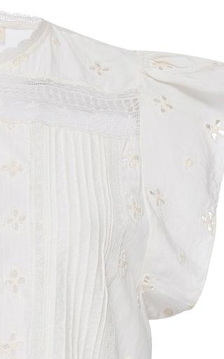 Embroidered Oksana Top by ULLA JOHNSON Now Available on Moda Operandi