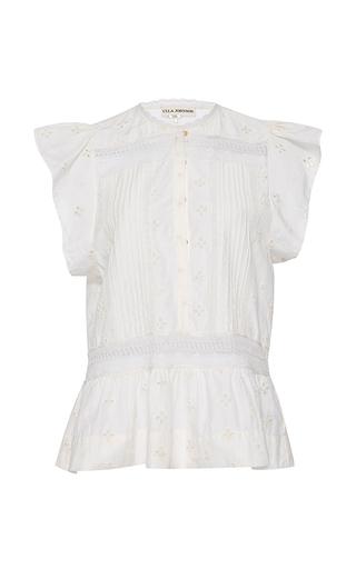 Medium ulla johnson white embroidered oksana top