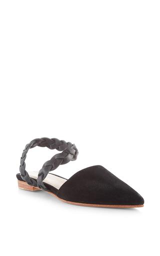 Medium ulla johnson black black suede amalia d orsay flat