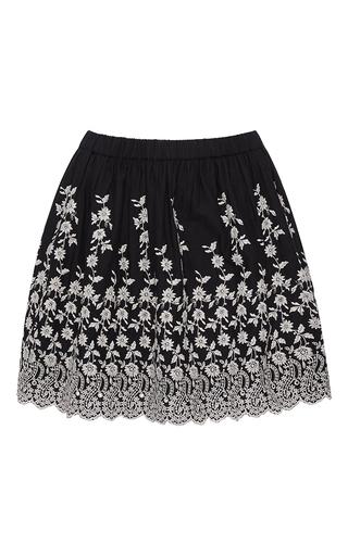 Medium ulla johnson black white coal floral embroidered isidora skirt