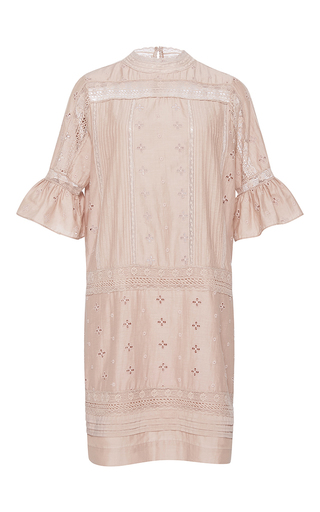 Medium ulla johnson pink embroidered elena dress