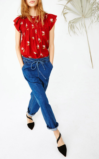 Astrid Floral Blouse by ULLA JOHNSON Now Available on Moda Operandi
