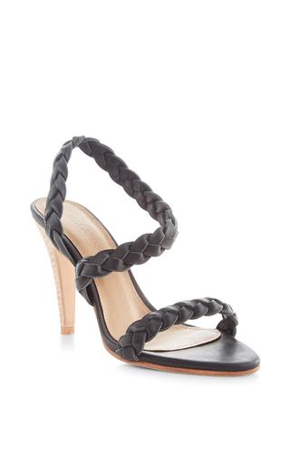 Medium ulla johnson black jet sima braided heel