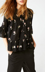 Floral Charlotte Blouse by ULLA JOHNSON Now Available on Moda Operandi