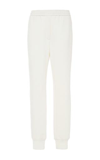 Medium adam lippes white cotton track pant