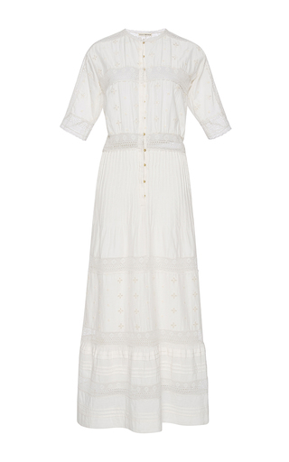 Medium ulla johnson white vasilisia short sleeve dress