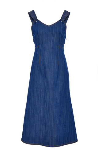 Medium adam lippes blue denim tank dress