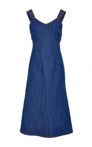 Medium adam lippes blue denim tank dress