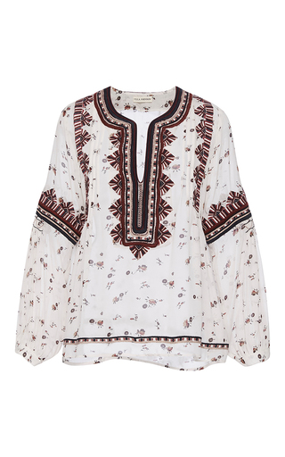 Medium ulla johnson print jamila floral blouse