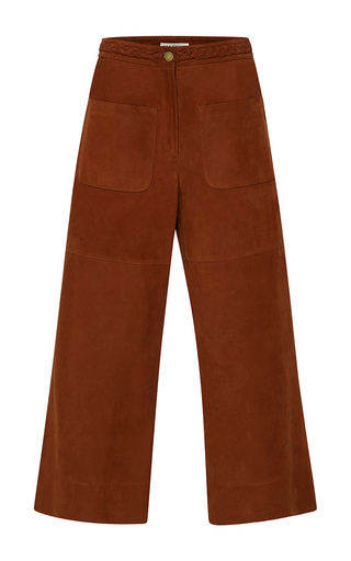 Medium ulla johnson brown suede ozra pant