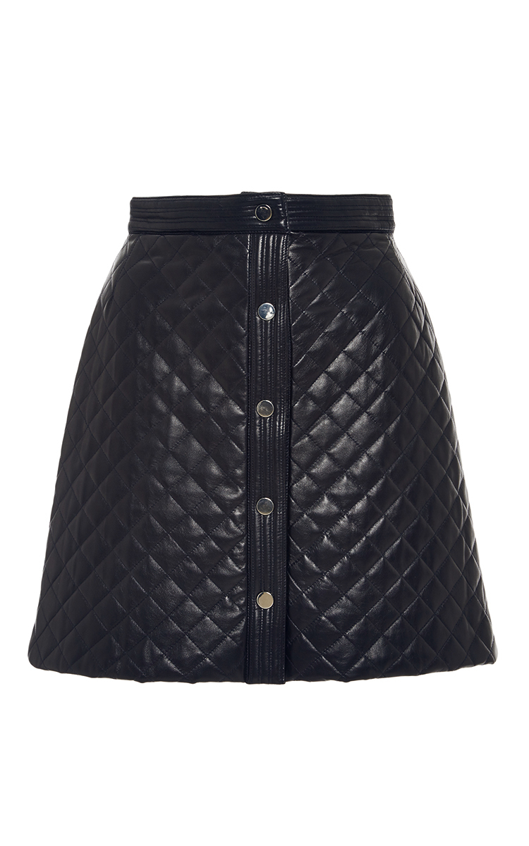 673b713d67 Quilted Leather A-Line Mini Skirt by Adam Lippes | Moda Operandi