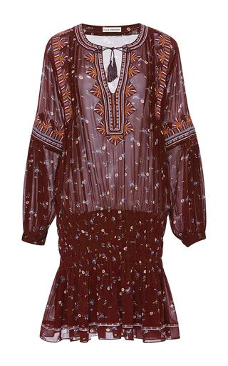 Medium ulla johnson red embroidered floral ghita dress