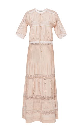 Medium ulla johnson pink vasilisia short sleeve dress 2