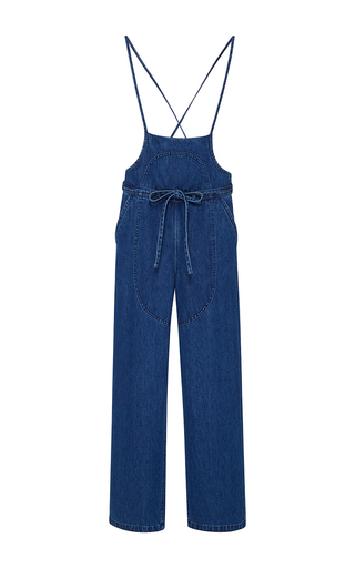 Medium ulla johnson blue nadia denim overalls 2