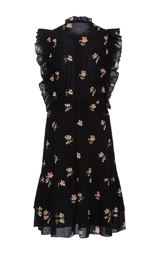Floral Ruffle Mini Dress by ULLA JOHNSON Now Available on Moda Operandi