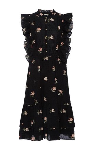 Medium ulla johnson black floral estelle dress