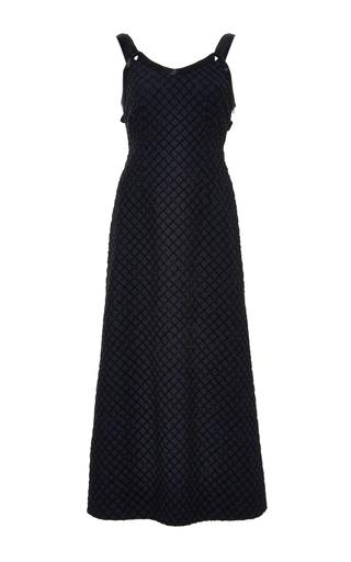 Medium adam lippes navy embellished a line dress