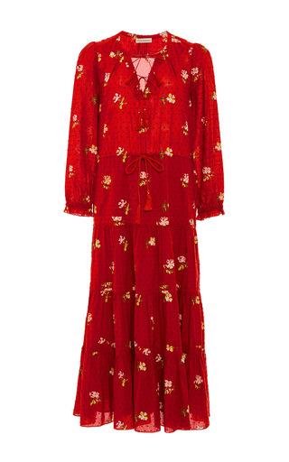 Medium ulla johnson red floral clementine dress