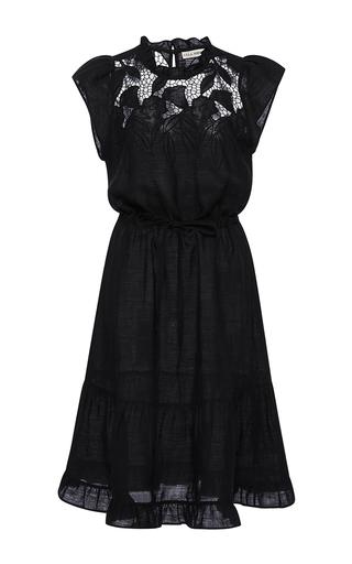 Medium ulla johnson black floral embroidered amelia dress