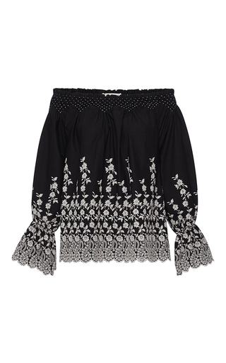 Floral Embroidered Marya Blouse by ULLA JOHNSON Now Available on Moda Operandi