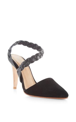 Medium ulla johnson black bibi d orsay heel
