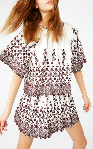 Selena Floral Blouse by ULLA JOHNSON Now Available on Moda Operandi