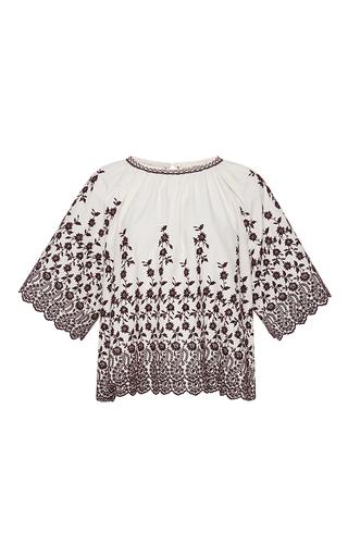 Medium ulla johnson white selena floral blouse