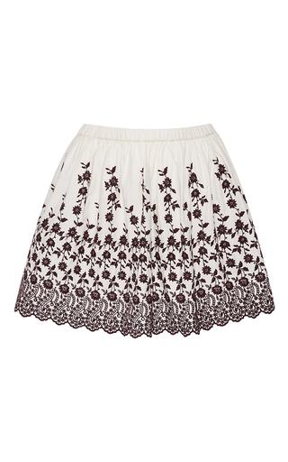 Medium ulla johnson black white isidora mini skirt