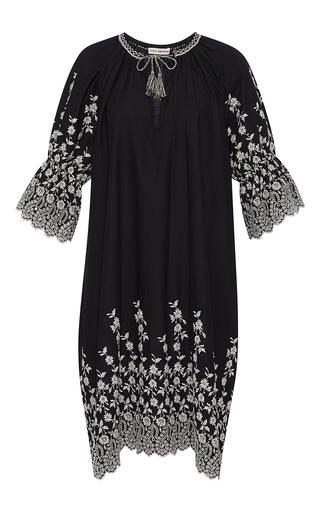 Medium ulla johnson black floral embroidered roza dress