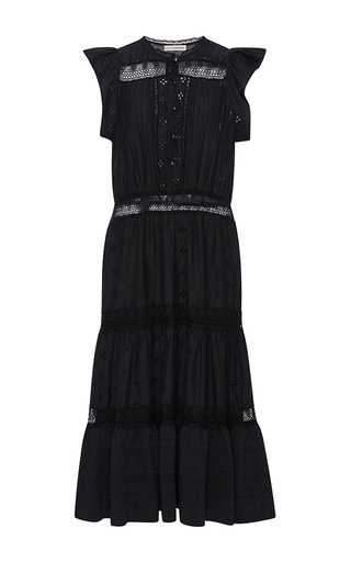 Medium ulla johnson black tatyana sleeveless dress