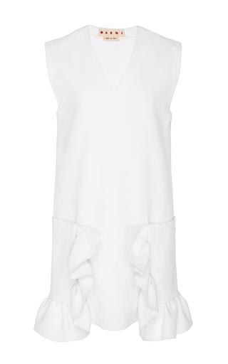 Medium marni white ruffled detail tunic