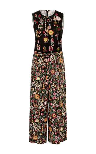 Medium red valentino floral wide leg floral jumpsuit