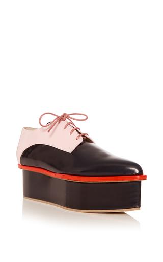 Medium delpozo pink milk pink and indigo derby platform shoe