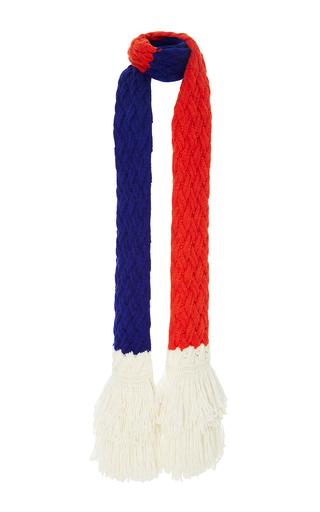 Medium delpozo off white tri color alpaca scarf