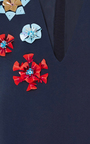 Flower Embellished Cropped Blouse by DELPOZO Now Available on Moda Operandi