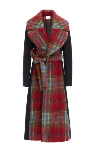 Medium delpozo plaid mohair wrap coat