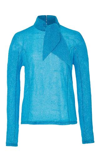 Metallic Tie Neck Top by DELPOZO Now Available on Moda Operandi