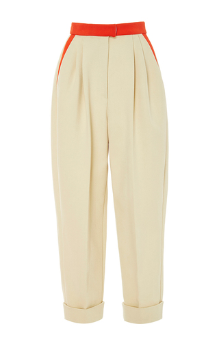 Medium delpozo neutral high waisted cropped trousers