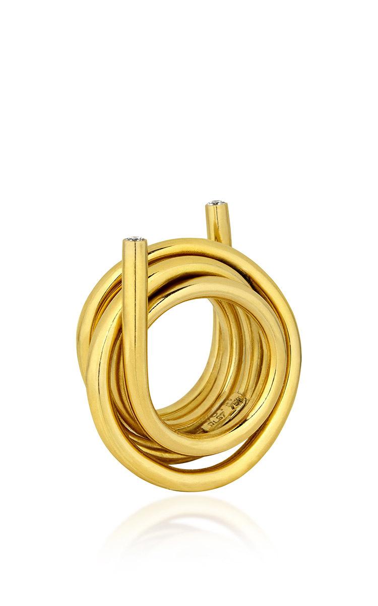 Line Ring With Diamonds Elena Votsi WsVATV8