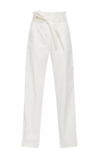 Medium a l c white lee cinched cropped pants